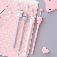 2020 New Korean Creative Gel Pen 0.5mm Ballpoint Animal Cute Rabbit Pink Pig Student Stationery Kawaii School Supplies
