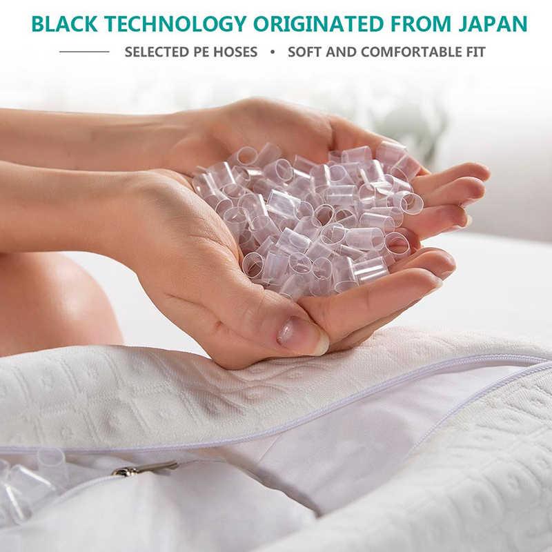 Almofada ajustável do sono do caso do algodão enchido da mangueira do pe do descanso ergonômico do pescoço do descanso 50*30 cm do cervical ortopédico do estilo de japão
