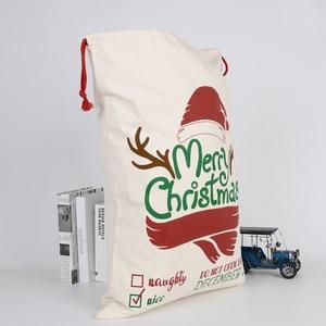 Рождественские Большие Рождественские Чулки мешки подарок хессиан Санта мешок украшение мешок конфеты подарок хранения сумка на шнурке 11 видов стилей Носки и держатели для подарков      АлиЭкспресс