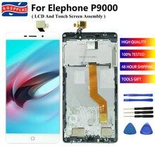 Calidad Original para Elephone P9000 pantalla LCD + MONTAJE DE digitalizador con pantalla táctil reemplazo perfecto 5,5 en panel de reparación + herramienta