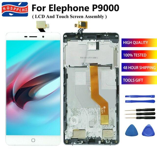 איכות מקורית עבור Elephone P9000 LCD תצוגה + מסך מגע Digitizer עצרת תחליף מושלם 5.5 ב תיקון פנל + כלי