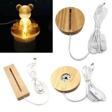 Деревянный светодиодный светильник ручной работы основа для