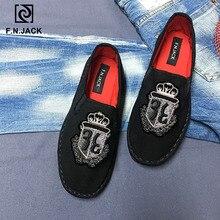 F.N.JACK Espadrille mode noir toile semelles en caoutchouc décontracté femmes chaussures plates Zapatos Mujer sapato feminino chaussures femme