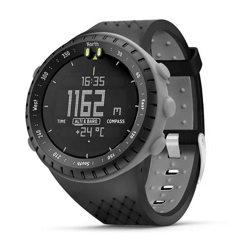 Tüketici Elektroniği'ten Akıllı Aksesuarlar'de Iki ton yumuşak silikon Watchband bilek kayışı Anti Scratch saat durumda ekran koruyucu Suunto çekirdek akıllı saat aksesuarları title=