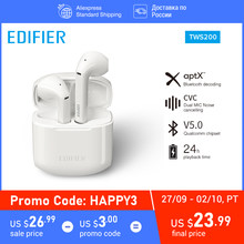 Edifier TWS200 Tws True Draadloze Bluetooth Oordopjes Bt 5.0 Oortelefoon 24 Uur Play Iphone Android 2020(China)
