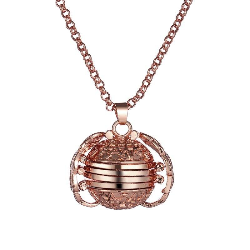 Retro Snitch Ball Shaped Potter Quartz Pocket Watch Fashion Sweater Angel Wings Necklace Chain Gifts Pocket Men Women Kids