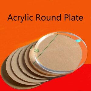 Hoja acrílica transparente, círculo acrílico, tabla redonda de plástico, discos, cuentas de plexiglás, Panel Perspex, manualidades DIY, estante de CD, 2-8mm de grosor