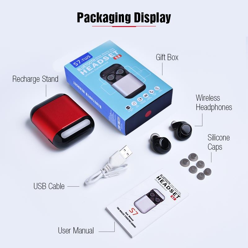 TWS Earbuds Wireless Headphones Bluetooth Earphone Stereo Headset Earphone For Phone With Charging Box Wireless Bluetooth Headphones (4)