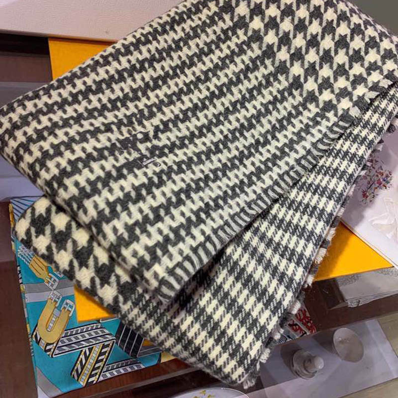 Houndstooth Plaid Stylish Brand Women Cashmere Scarf <font><b>80*200</b></font> CM Soft Keep Warm Women Autumn Winter Scarf High Quality image