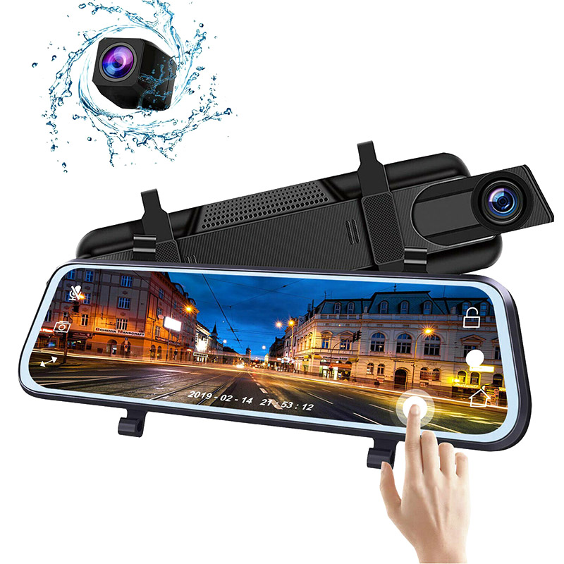 <font><b>2019</b></font> Full HD <font><b>Mirror</b></font> <font><b>Dash</b></font> <font><b>Cam</b></font> Video Recorder Smart Car Front Rear Dual Lens 1080P CSL88 image