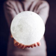 3d Печатный лунный светильник светодиодный настольная лампа
