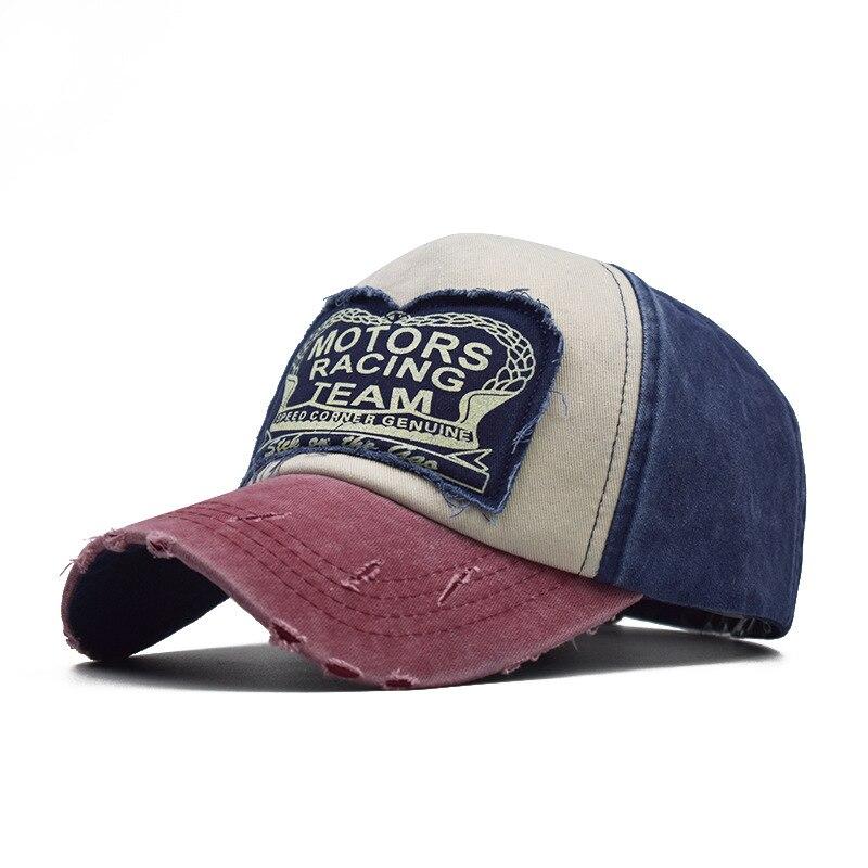 Unisex Baseball Cap Cotton Motorcycle Cap Edge Grinding Adjustable Baseball Hat