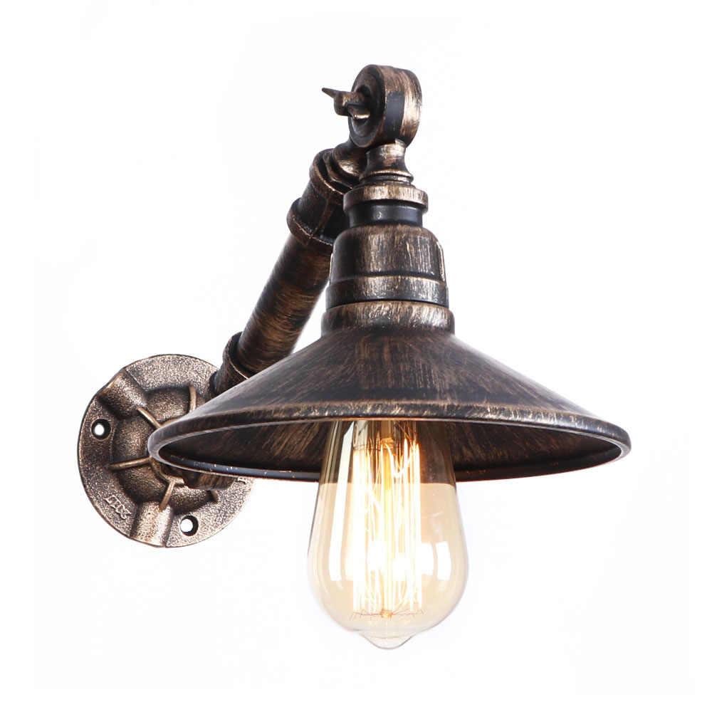 ヴィンテージロフト装飾 Led ウォールランプ調整鉄水道管壁軽工業エジソン壁燭台ベッドサイドホーム照明 Wandlamp