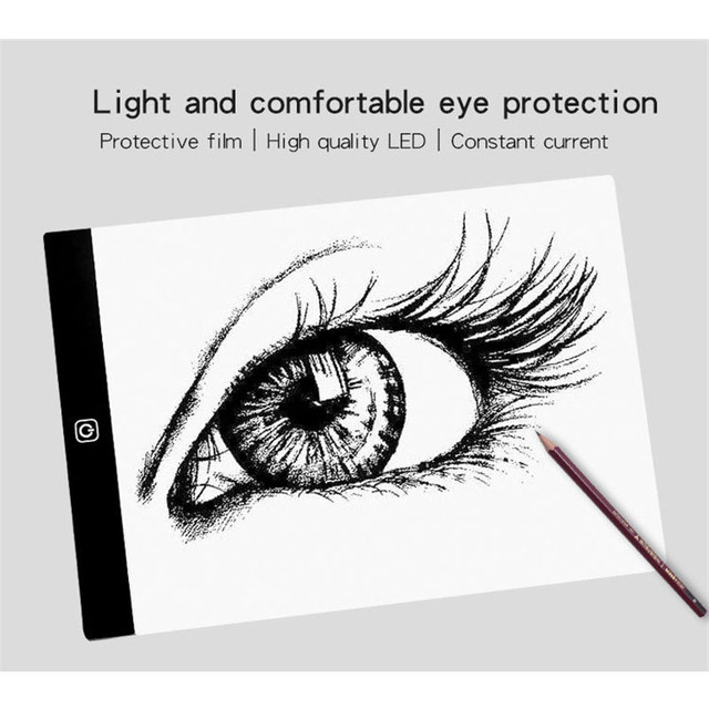 A4/A5 3 Level Dimmable/Stepless Dimming Led Drawing Copy Pad Board Children Creative Painting Educational Toy Best Gift For Kids 2