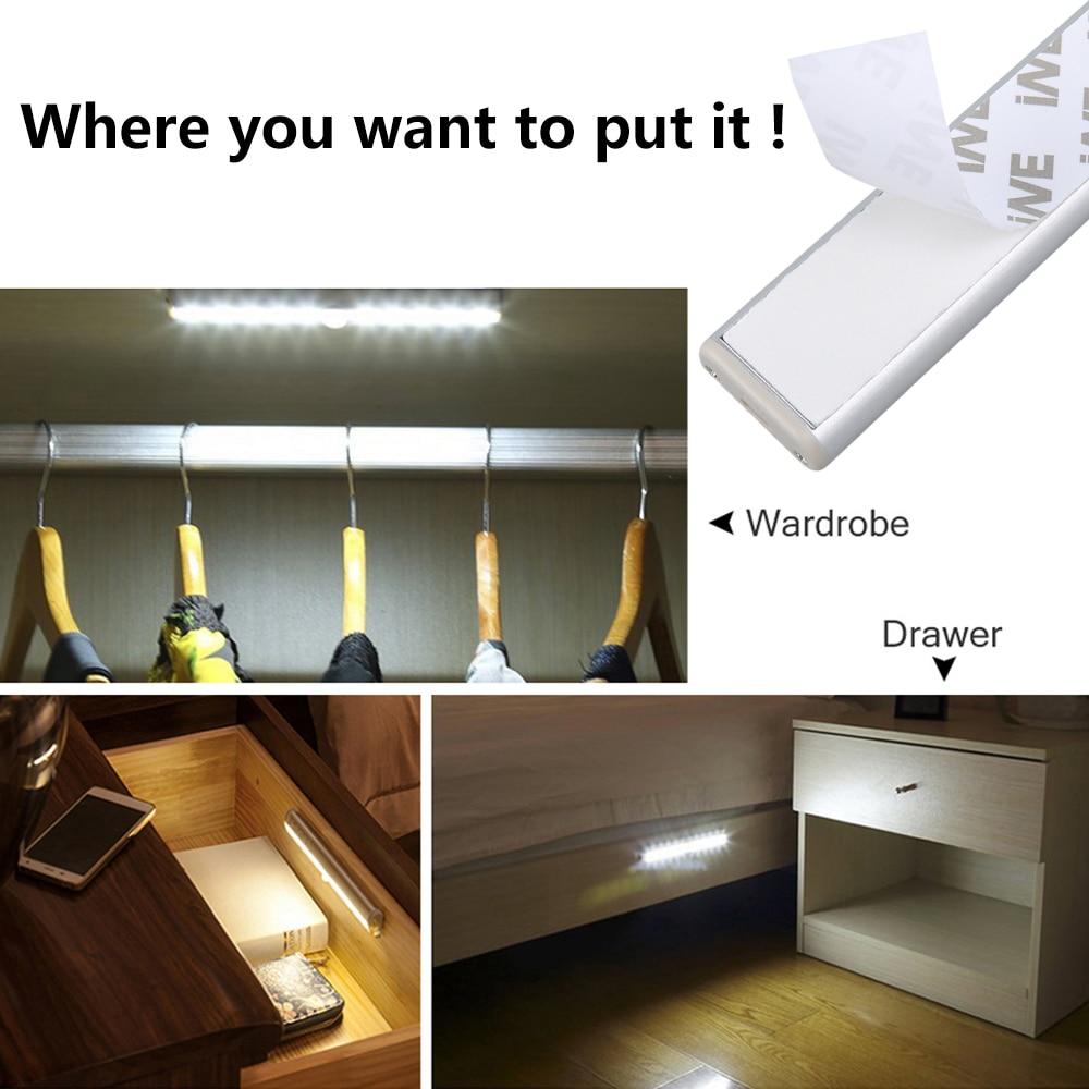 Lampes led à détection de mouvement 6 10 24 40 60 LEDs