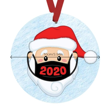 2020 Christmas Tree Ornament-Faceless Santa Claus Hanging Ornaments Toilet Paper Ornament Christmas Quarantine Gifts Presents image
