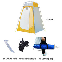 Portable privacy shower toilet camping open up tent camouflage anti uv function outdoor dressing tent photography tent