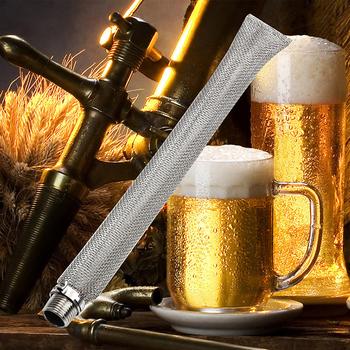 Filtr do piwa ze stali nierdzewnej filtr z siatki 1 2 #8221 NPT piwo warzenie filtr chmielu sitko narzędzie do czajnika lub Mash Tun domowe warzenie narzędzia tanie i dobre opinie STAINLESS STEEL Filtry lejki i Imbryk