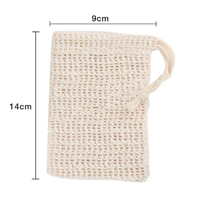 1PC/5PCS Soap Holder Double Layer Soap Exfoliating Bag Soap On A Rope Soap Saver Body Facial Cleaning Tool 3