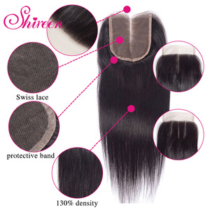 Image 4 - Shireen Brazilian Straight Hair Bundles With Closure 3 Bundles With Closure 4pcs Hair Extensions Weave Bundles With Closure Remy