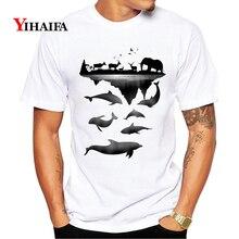 Mens Womens T-Shirt 3D Print Boat Fish Graphic Tees Casual Summer TShirts Hip Hop Unisex White Tops Animal Tee Shirts