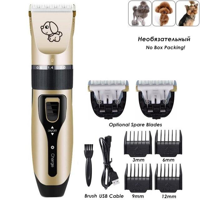 נטענת נמוך רעש חיות מחמד שיער קליפר Remover קאטר טיפוח חתול כלב שיער גוזם חשמלי חיות מחמד שיער לחתוך מכונה USB תשלום