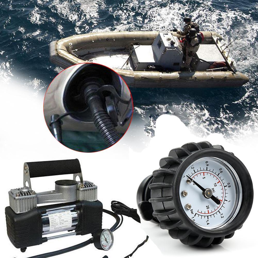 PVC Boat 25PSI 1.6BAR Barometer Air Pressure Gauge For Inflatable Boat Raft Kayak Black Barometer Rowing Boats Equment