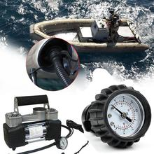 PVC Boat 25PSI 1.6BAR Barometer Air Pressure Gauge For Inflatable Boat Raft Kayak Black Barometer Rowing Boats Equment new durable inflatable boat transom launching wheel for inflatable dinghy yacht tender raft rowing boats accessories