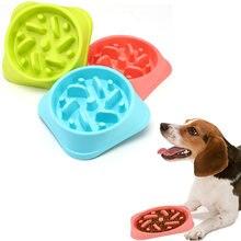 Чистый цвет искусственная чаша трость для щенка медленное питание
