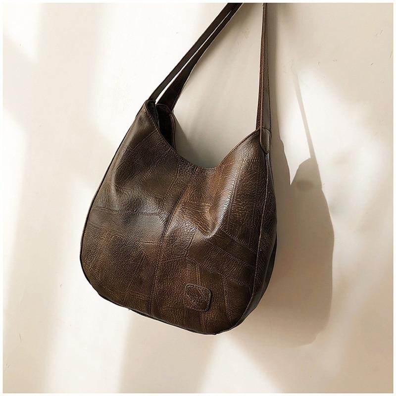 ACELURE  High Capcaity Soft PU Leather Vintage Women Hand Bag Totes Designers Luxury Women Shoulder Bags Female Top-handle Bags 6