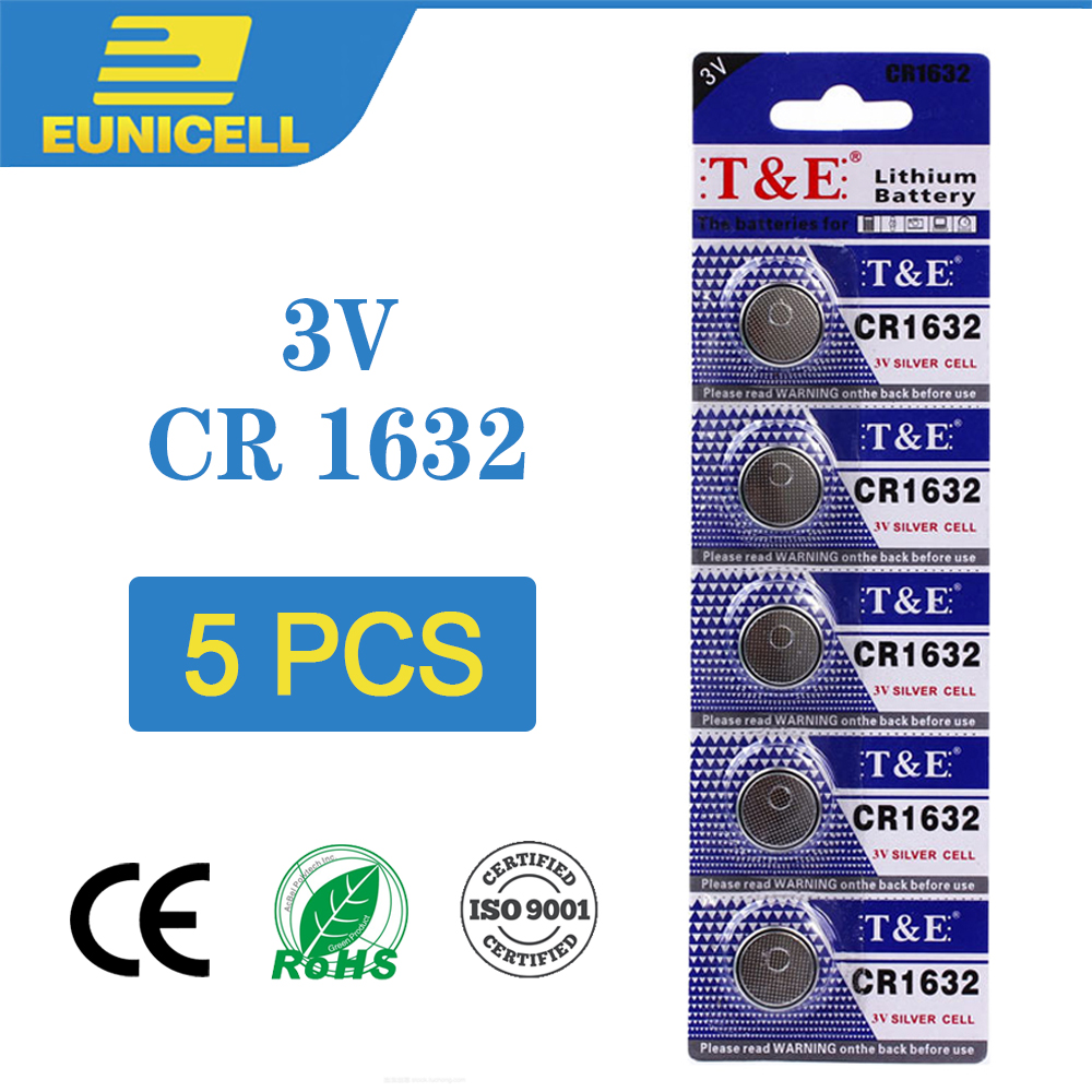 5pcs Lithium Cell Coin Battery 3V CR1632 CR 1632 Button Batteries  EE6224 ECR1632 DL1632 KCR1632 LM1632 For Watch Toy Remote