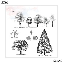 ZhuoAng Beautiful forest Clear Stamps/Silicone Transparent Seals for DIY scrapbooking photo album Stamps
