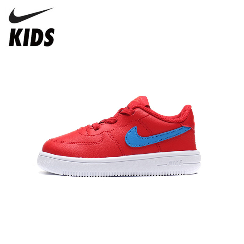 Nike Air Force 1 Original Kids Shoes Lightweight Children Skateboarding Shoes Breathable Sports Sneakers #905220-604