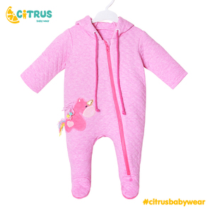 CITRUS Newborn Jumpsuit Baby Rompers Set Overall Long Sleevele Spring Cotton Zipper Girls Baby Casual Rompers Clothes