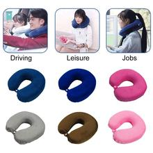 Новинка, Прямая, переносная u-образная подушка для шеи с эффектом памяти, подушка для офиса, путешествий, самолета, сна
