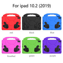 FENIORES Tablets Case For ipad 10.2 7th 2019 EVA Kids Safe Rubber Handle Tablet Stand Case Cover Shell Tablet Cover Anti-fall(China)