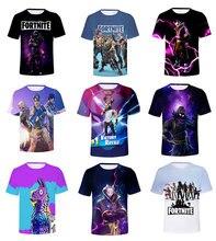 Fortnite men fortnite t shirt 3d impresso meninas streetwear crianças roupas de verão batalha royale meninos curto tshirt o pescoço
