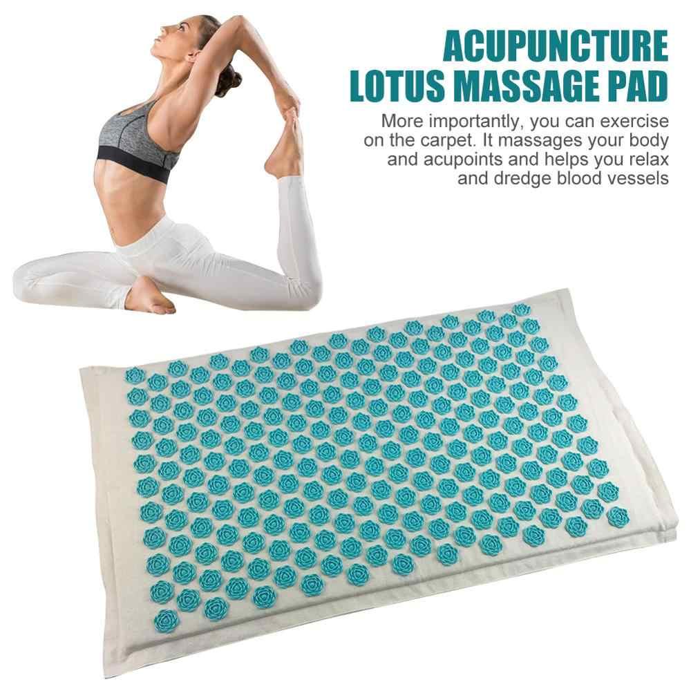 Mat Lotus Spike Akupresur Pijat Relaksasi Relief Stres Cushion Yoga Mat Meringankan Tekanan Rasa Sakit Spike Musim Dingin Yoga Mat