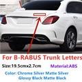 Авто багажника буквы эмблема знак, наклейка на автомобиль для Brabus W205 W463 W221 W220 S320 S450 S500 S600 G500 G350 G55 G63 650 G800 для укладки волос