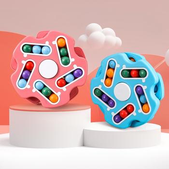 Nowe dzieci inteligencja obracanie magiczna fasola zabawka obracana palcem dzieci Stress Relief Cube zabawki dla Aldult Relief dekompresji gry tanie i dobre opinie Diikamiiok 4-6y 7-12y 12 + y 18 + CN (pochodzenie) Z tworzywa sztucznego