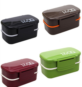 Image 2 - 1400ml Double Layer Plastic Lunch Box Microwave oven Bento Box Food Container Heating Lunchbox lunch box  for kids food box