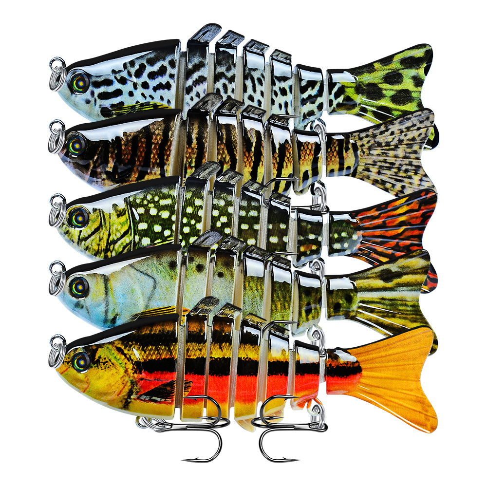 1Pcs Sinking Wobblers Fishing Lures Multi Jointed  Hard Artificial Bait Pike/Bass Fishing Lure