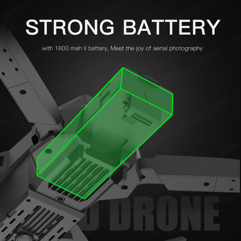 E525 PRO 4K Mini Drone Profissional Obstacle Avoidance Dual Camera Fixed Height RC Quadcopter Dron Helicopter FPV 6