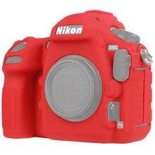 Para nikon d850 silicone caso da câmera para nikon d850 câmera protetor capa de alta qualidade litchi textura antiderrapante