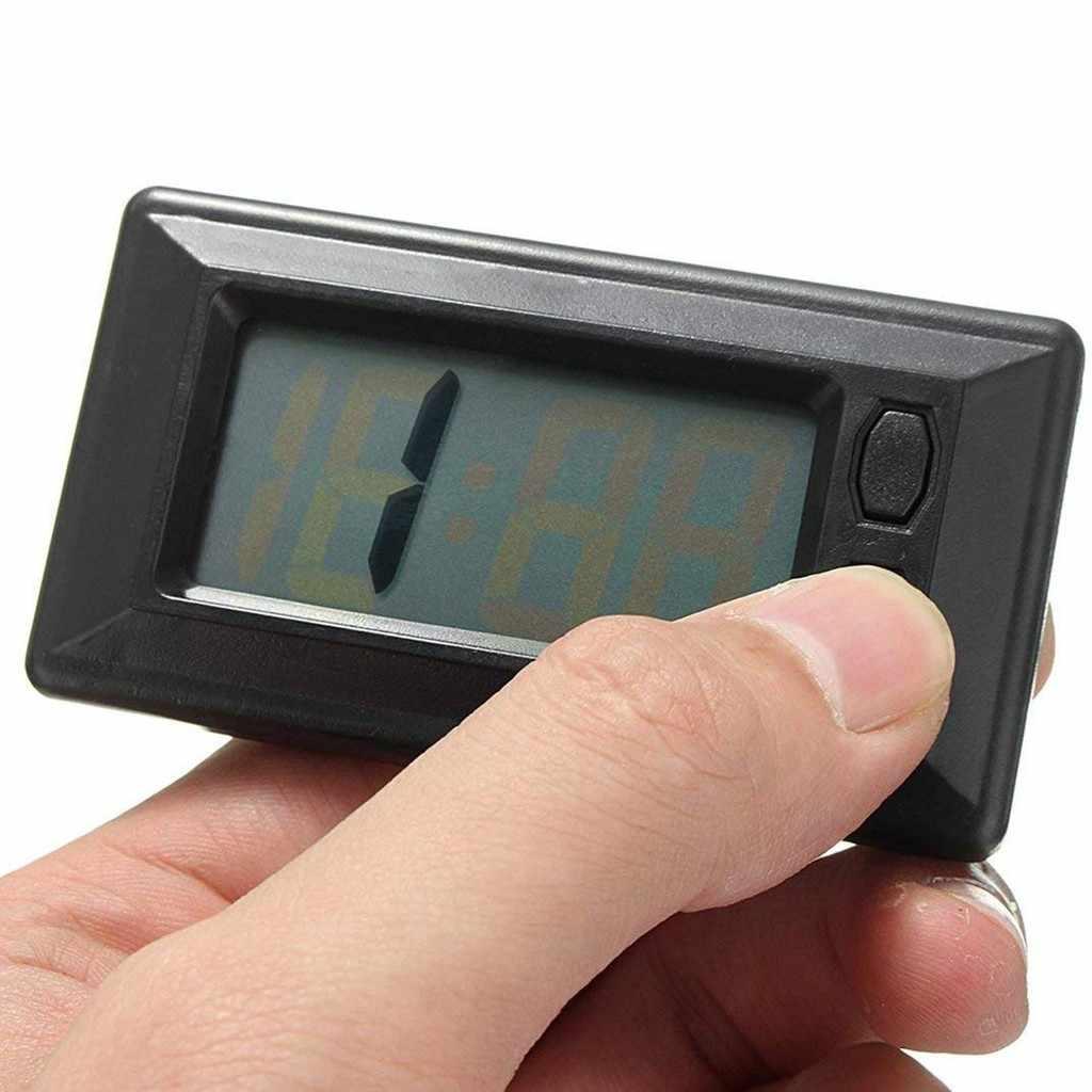 C relógio do painel do carro ultra-fino lcd display digital dashboard relógio com calendário fn08