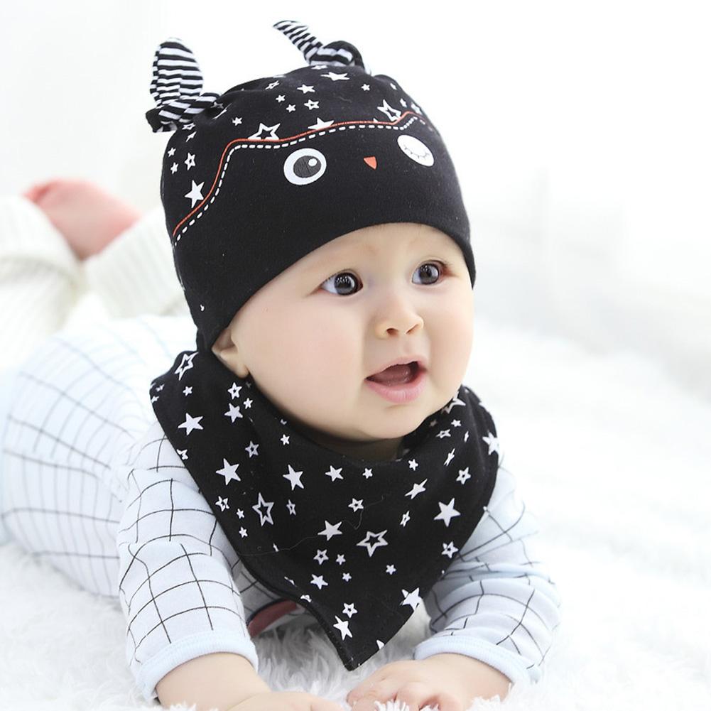 Toddler Kids Baby Boy Girl Winter Warm Knitted Crochet Beanie Hat Cap Scarf Set