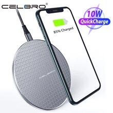 Беспроводное зарядное устройство Qi 10 Вт для iPhone 11 Pro Max Airpods Pro, быстрая Беспроводная зарядка для сотового телефона, настольное зарядное устройство