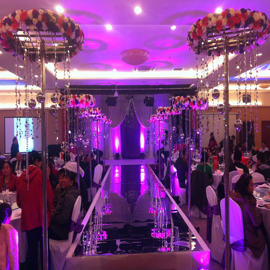 Mirror Carpet Thickening Glossy Wedding Celebration Wedding Wedding T Stage Double-sided Mirror Aisle Running Leader Decoration