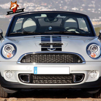 Auto Stripe Hood Decal สติกเกอร์กีฬาจัดแต่งทรงผมรถสติกเกอร์สำหรับ MINI COOPER S One JCW R55 R56 R60 r61 F54 F55 F56 F60