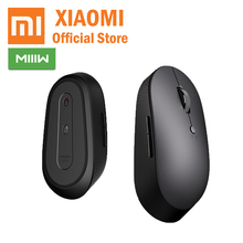 лучшая цена Xiaomi MIIIW Wireless Dual Mode Mouse S500 Bluetooth 5.0 BLE Portable For Laptop Black Mouse Suitable Any Surface Mouse